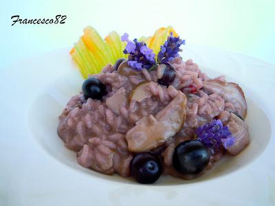 risotto con funghi porcini e mirtilli