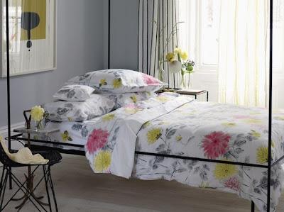 Cama Moderna de Fierro con Flores - Dormitorio barato