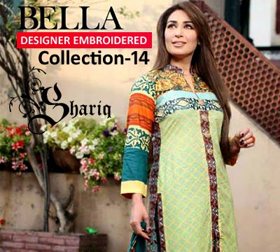 BELLA Designer Embroidered Collection-2014 By Shariq Textile