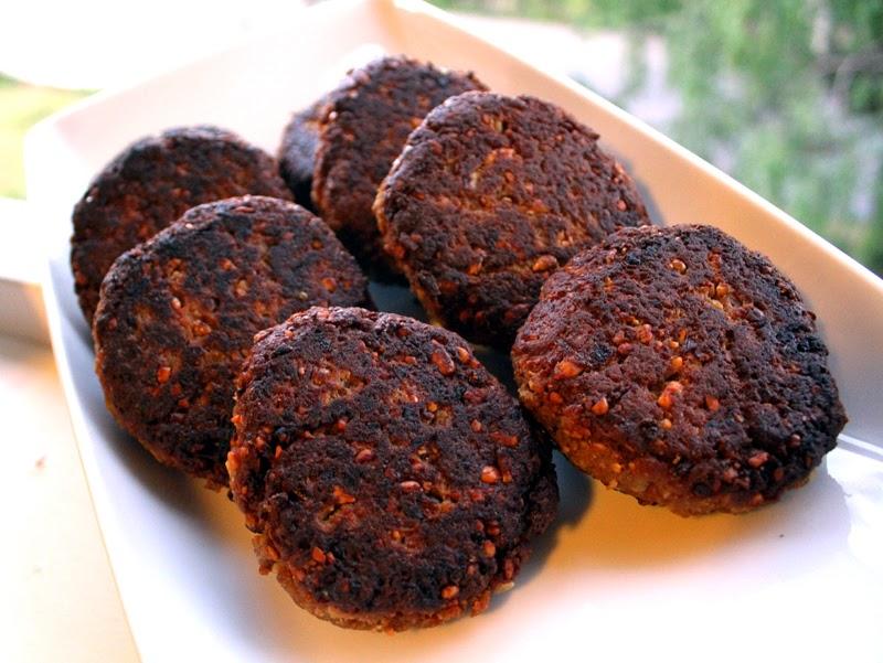 Oppskrift Veganburger Vegetarburger Glutenmel Hvetegluten Big Mock Kjøttfri Burgeroppskrift
