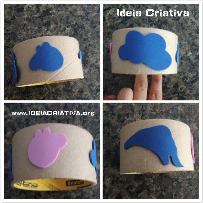 Carimbo de rolo de fita adesiva com moldes diversos em tamanho real