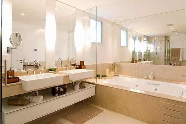 Decoração Banheiros  Mari Beleza Pura -> Banheiro Pequeno Tinta