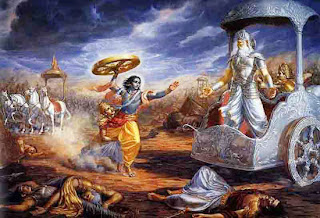 Abhimanyu in battle