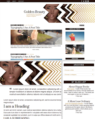 Classic, minimalist, gold, chic, beauty & fashion blog theme - template for blogspot bloggers