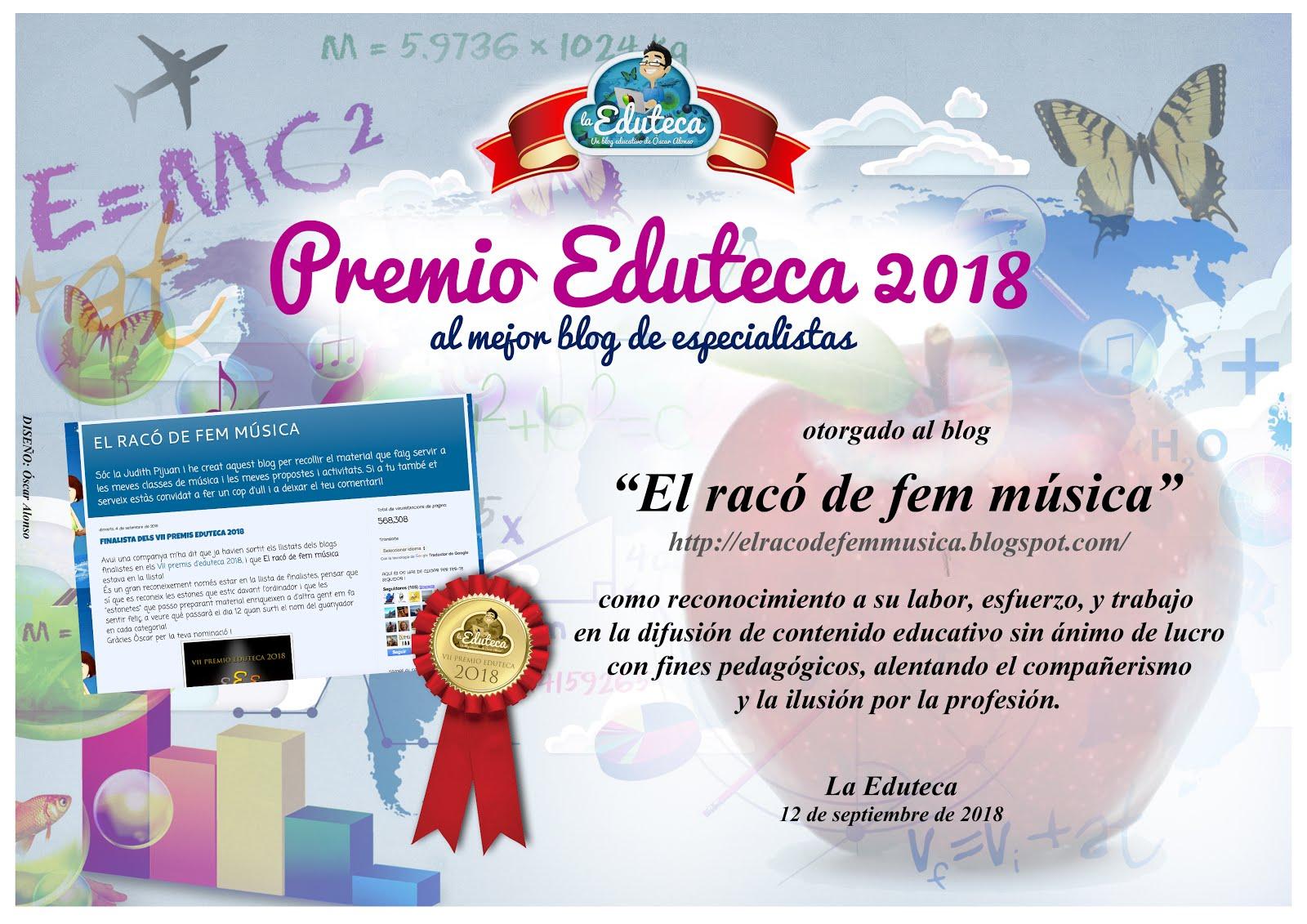 MILLOR BLOG D'ESPECIALISTES 2018