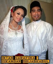 Gambar Intan Sarafina dan Suaminya Iskandar Bahagia