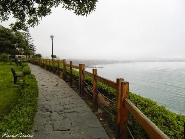 Lima, Miraflores. Vista sull'oceano Pacifico