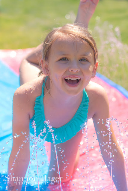 Shannon Hager Photography, Portland Oregon, Backyard Water Fun