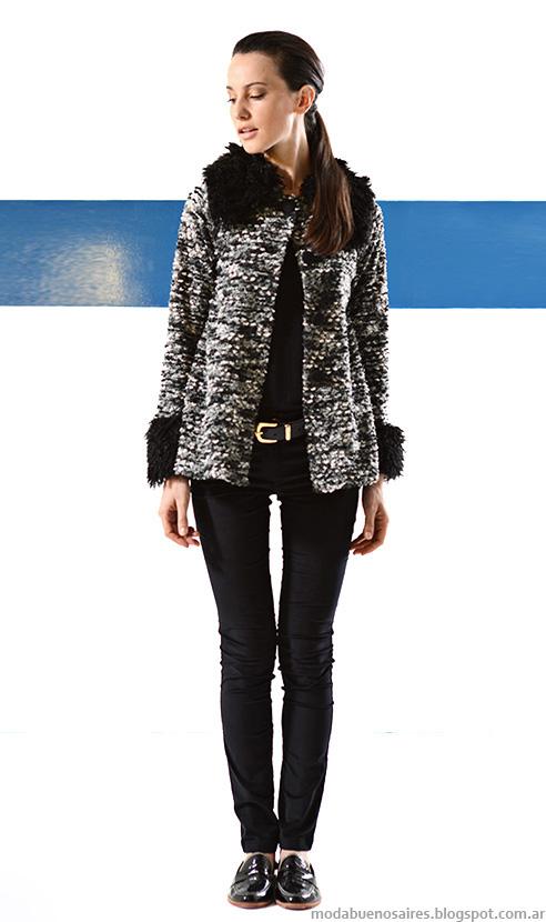 Abrigos invierno 2014 colección de moda en ropa de mujer Mancini otoño invierno 2014.