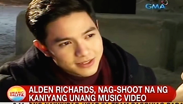 Alden Richards, Shoots his first music video