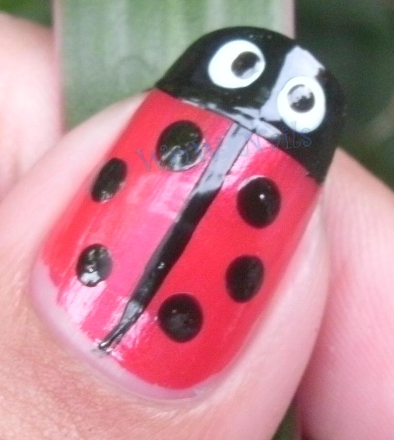WoW Nails: Ladybug Nail Art Tutorial