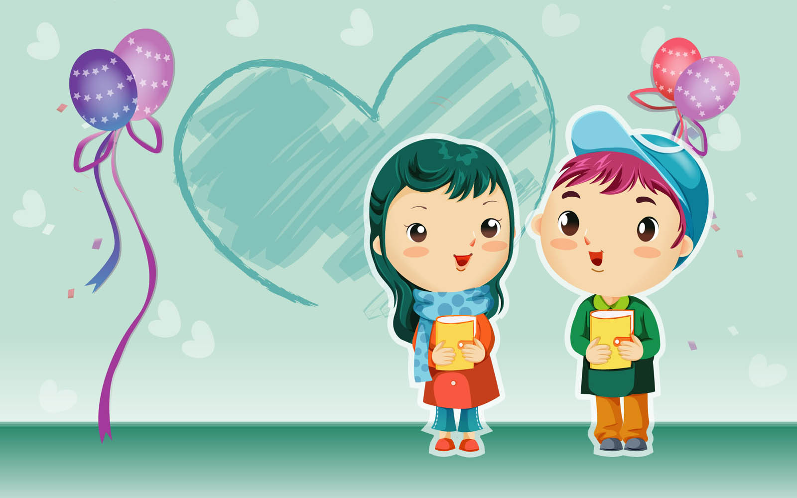 Romantic Couple Cartoon