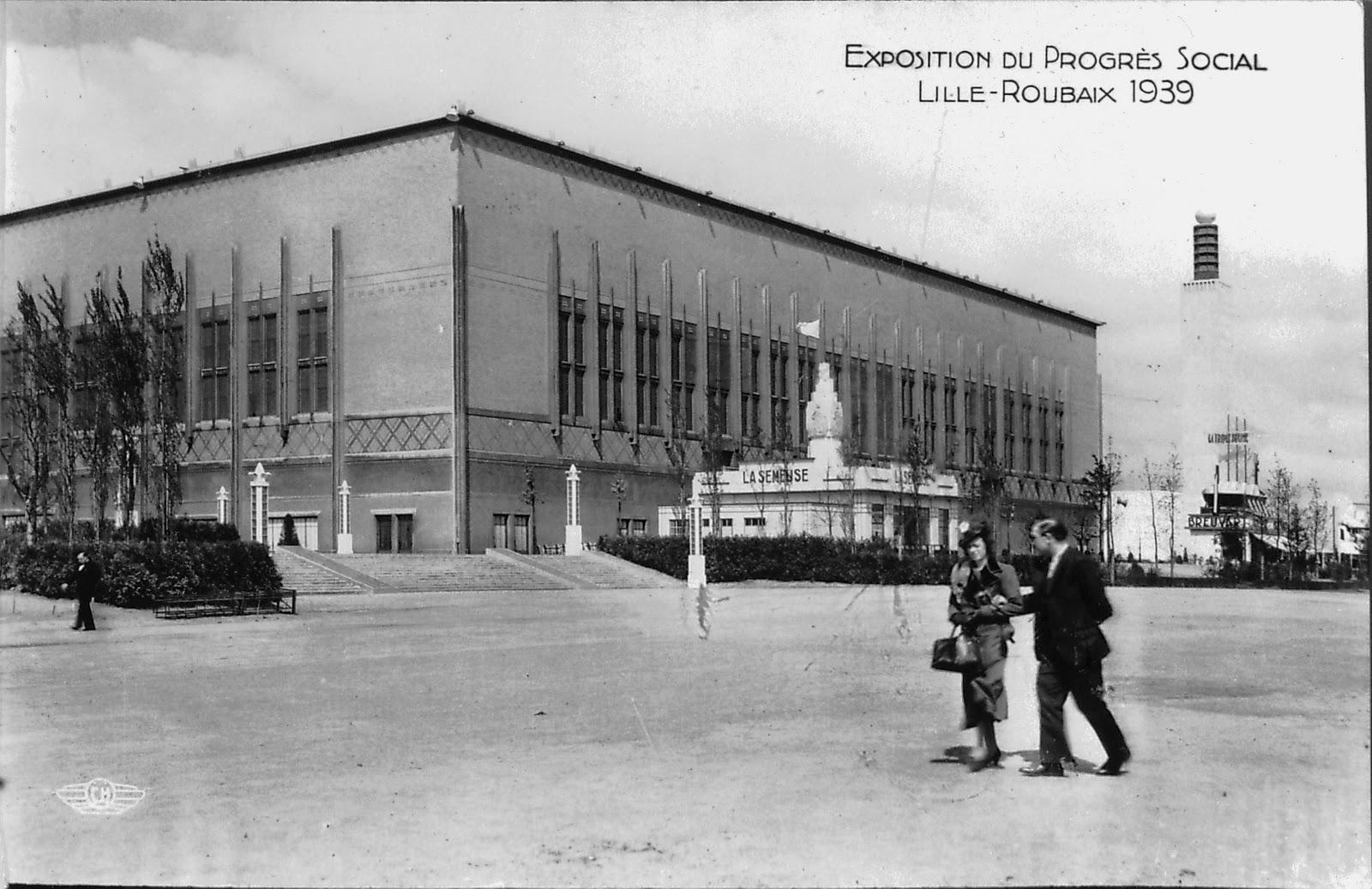 L 39 exposition du progr s social en 1939 lille et roubaix for Architecte grand palais