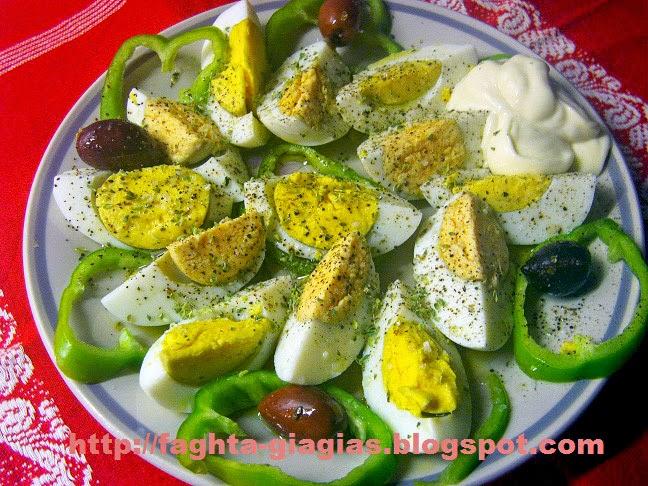 Τα φαγητά της γιαγιάς - Αυγά βραστά σαλάτα