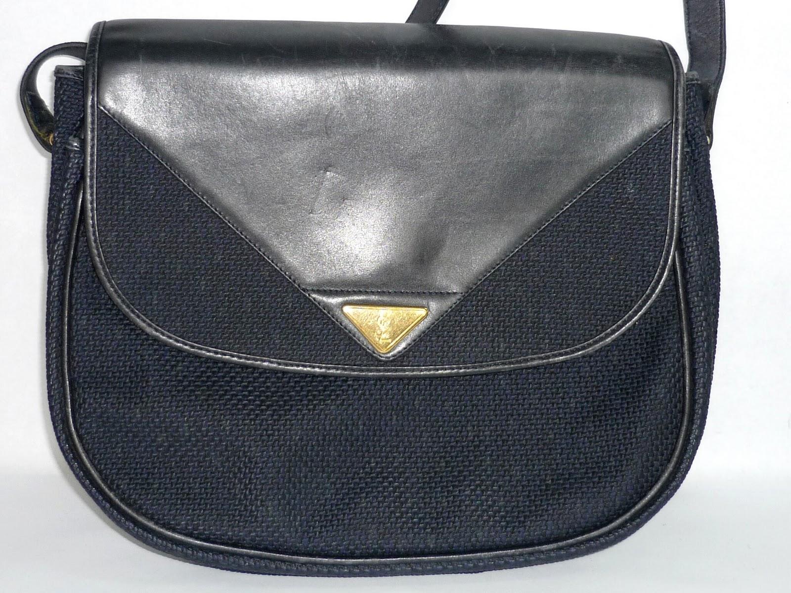 Rchybundle Vintage Ysl Massenger Sling Leather Bag