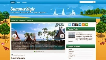Blogspot SummerStyle Template free Download