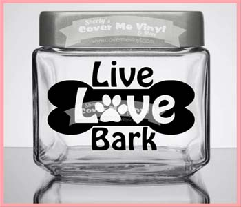 Live Love Bark Treat Jar