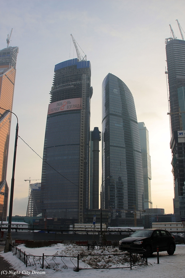 Picture of the Federation Tower under construction