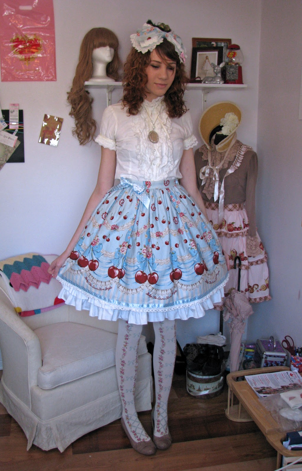 12 year lolita porn Zoe wearing one of her Sweet Lolita outfits.