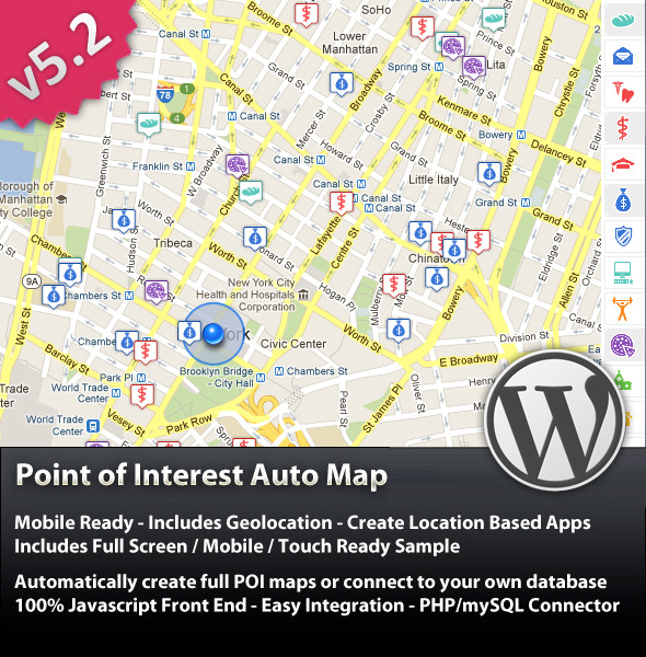 CodeCanyon - Point Of Interest (POI) Auto Map For WordPress