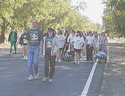 Walking in Vineyard Run for Literacy in Finley, Calif.