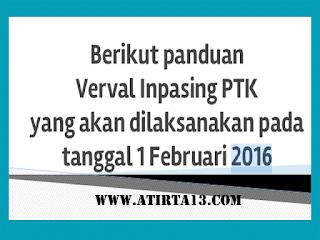 Panduan Verval Inpasing PTK 2016