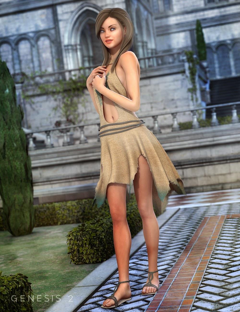 Diana Outfit pour Genesis 2 Femme
