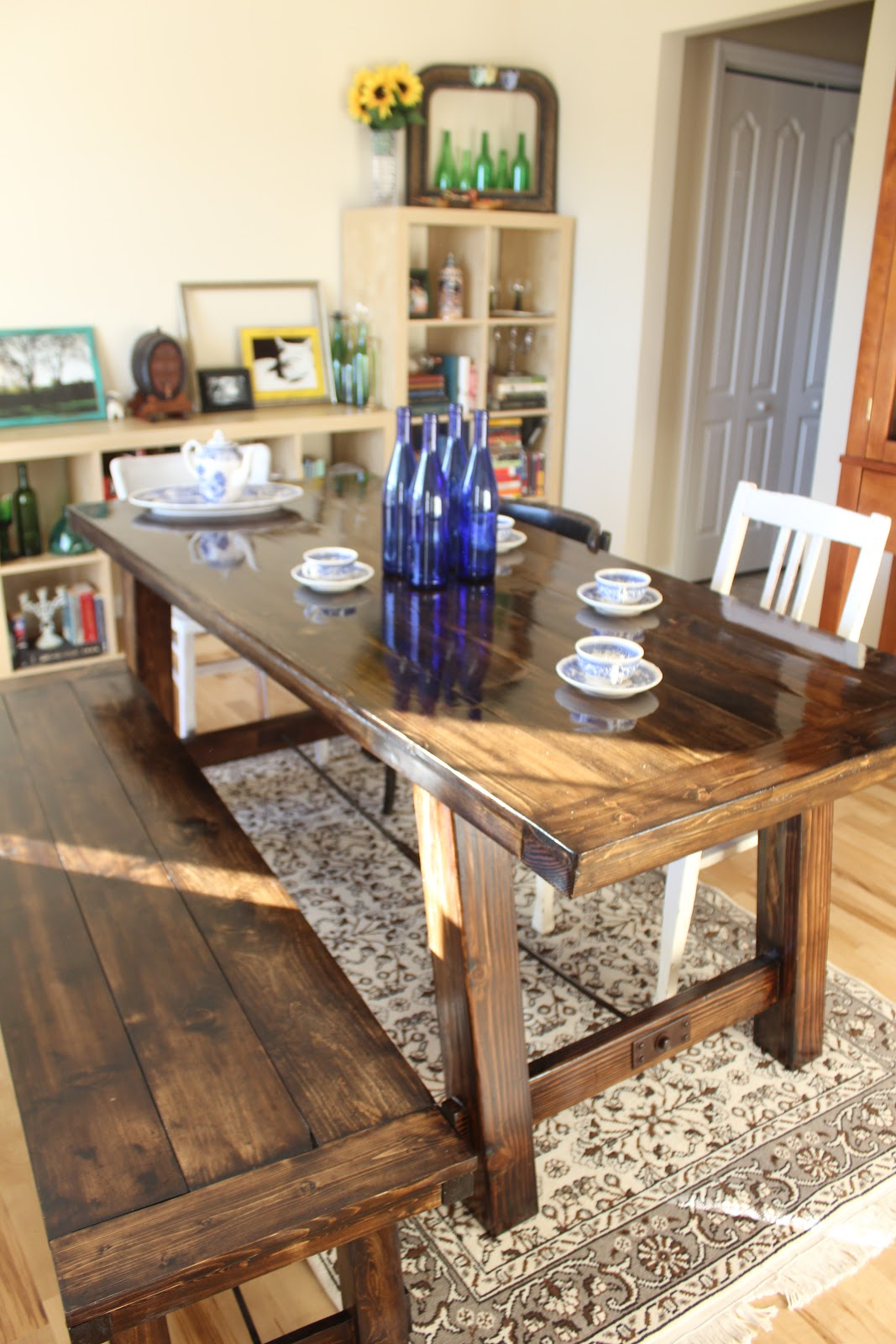 2 crafty 4 my skirt round up diy furniture for Diy barn table