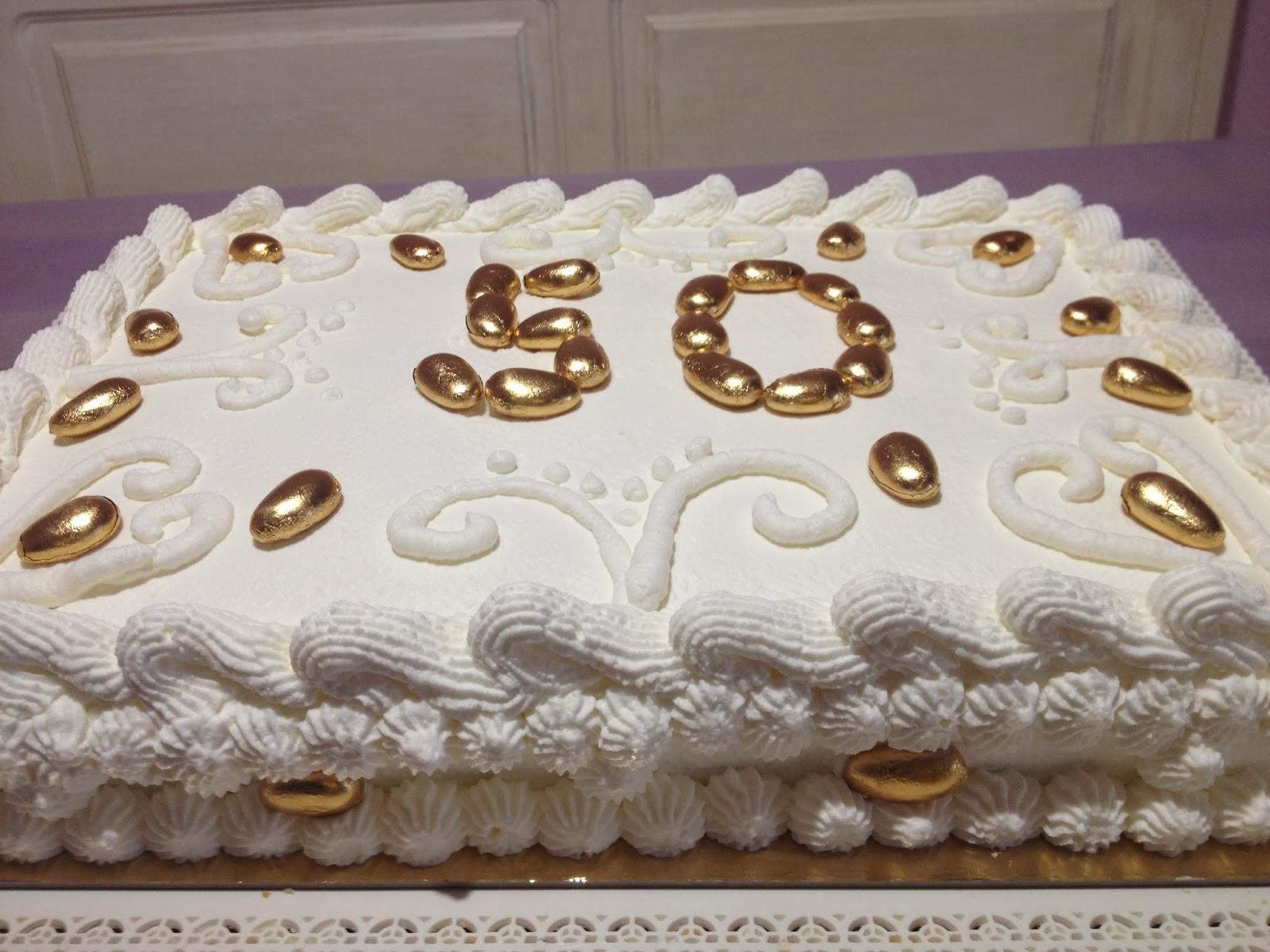 A casa di lory nozze d 39 oro for Decorazioni torte per 60 anni di matrimonio