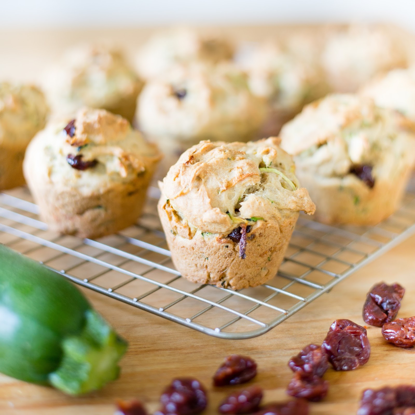 Z Is For Zucchini Muffins With Cherries Amp Chocolate