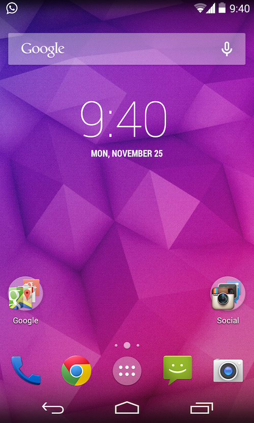 How to Get Google Nexus 5 Launcher Theme on Nexus 4