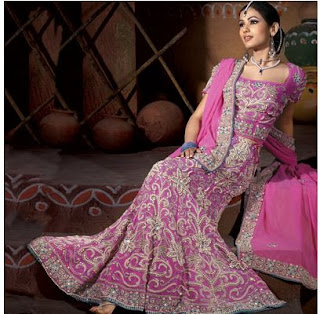 pink indian wedding dress