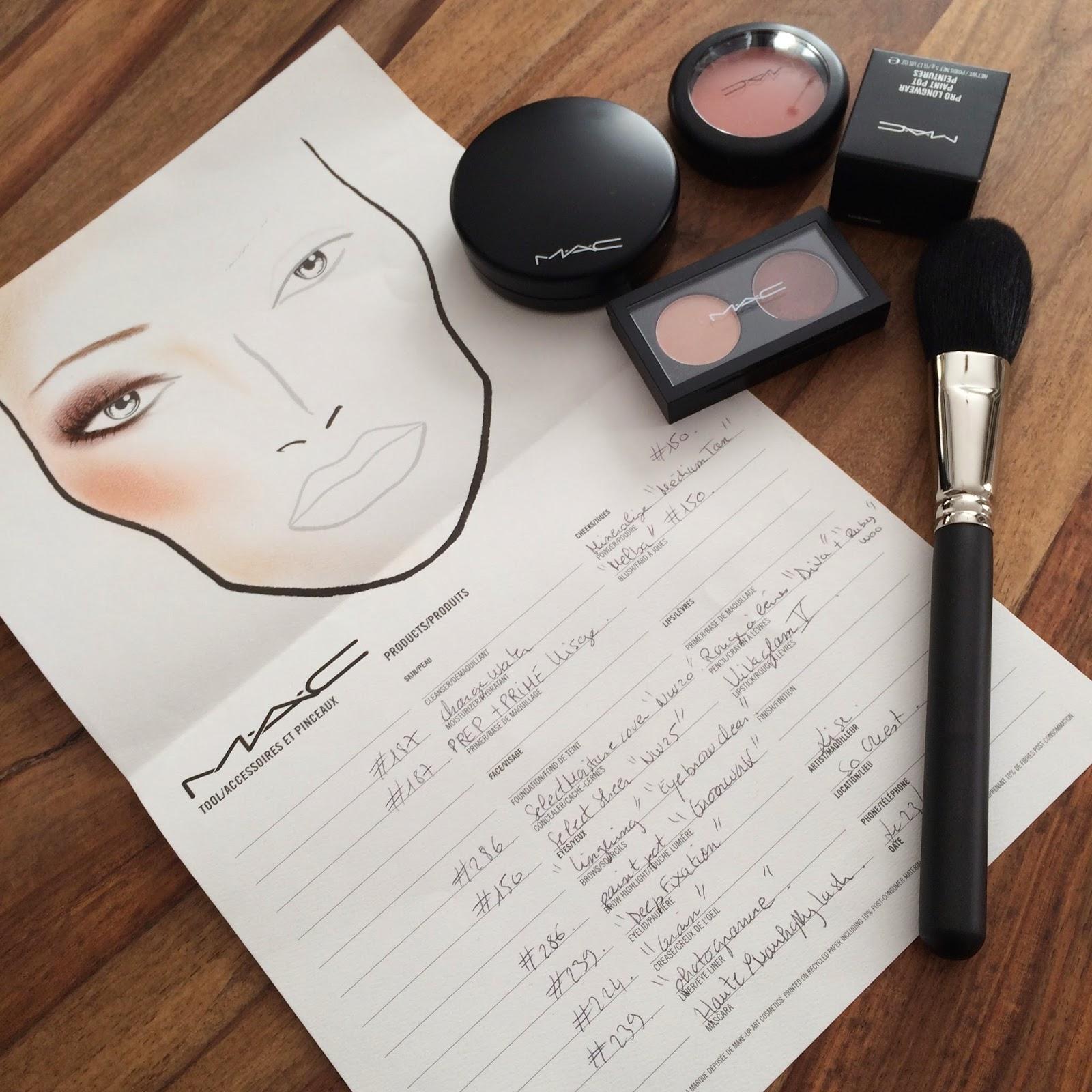 Ma leçon de maquillage personnalisé chez Mac