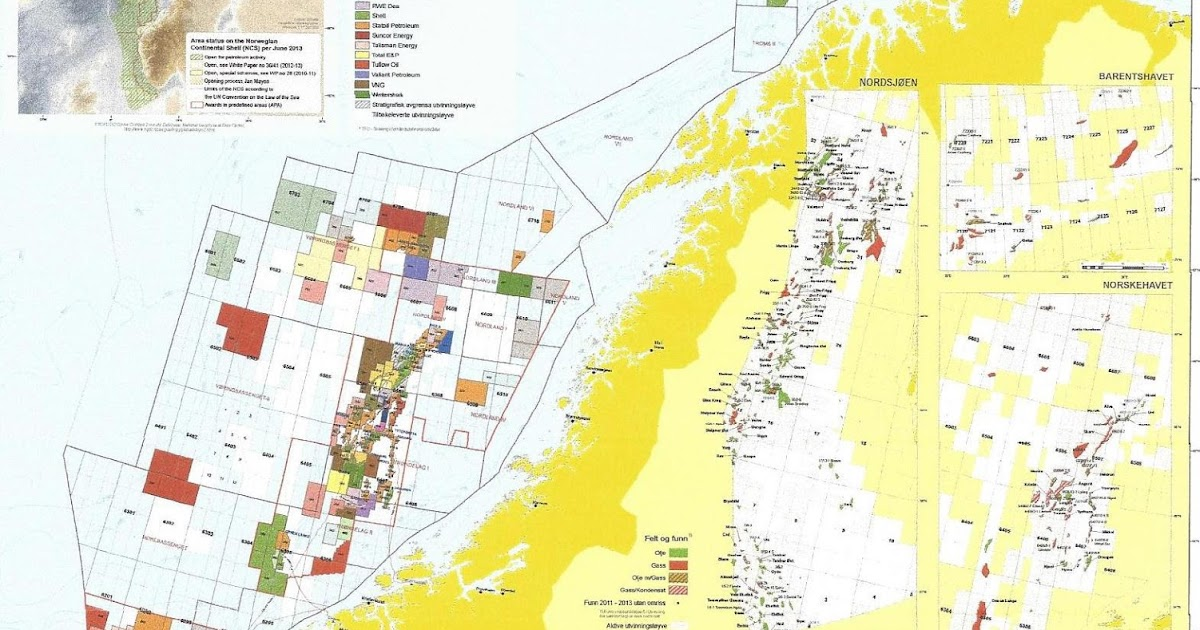 updated map of the norwegian continental shelf available oil and gas