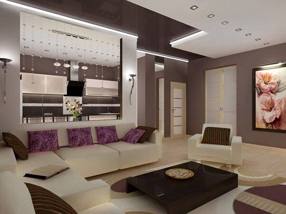 Get peace of mind with purple living room design decor units for Peaceful living room ideas