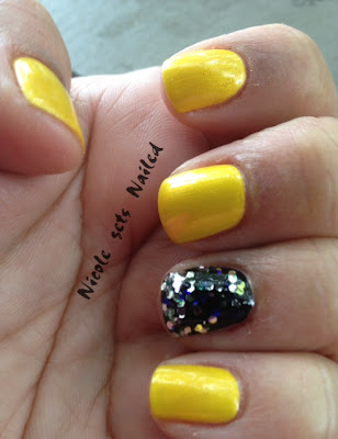 Yellow Nail Polish Glitter Sally Hansen
