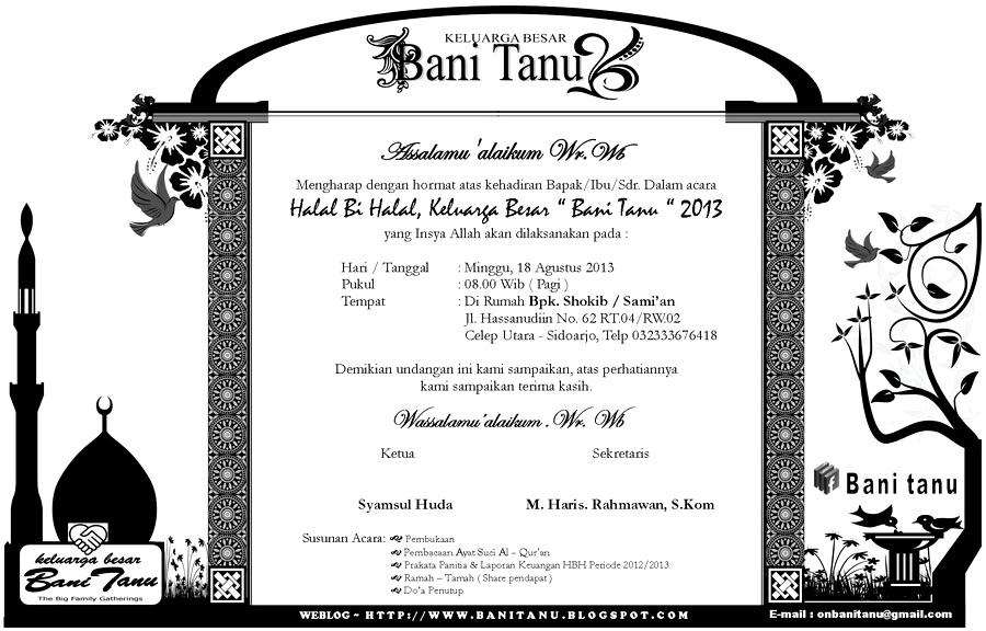 UNDANGAN HALAL BI HALAL BANI TANU 2013