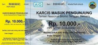 Harga Tiket Masuk Wisata Bromo 2014