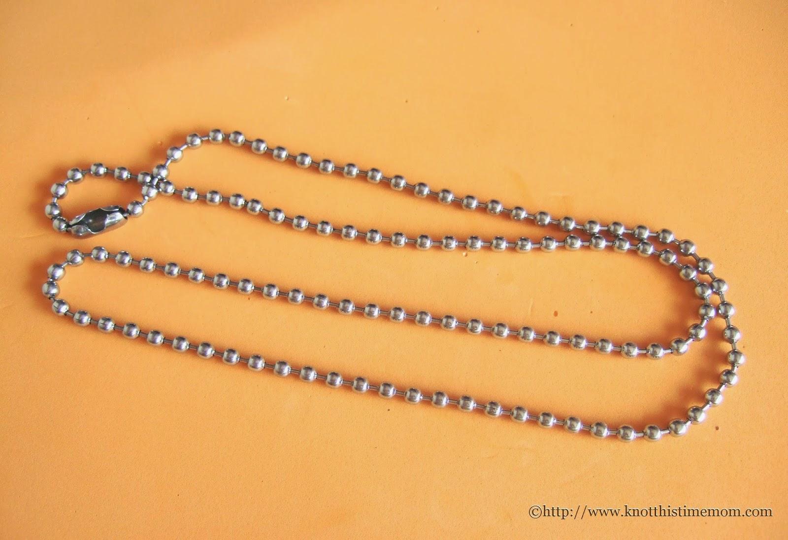 silvertone Ball chain