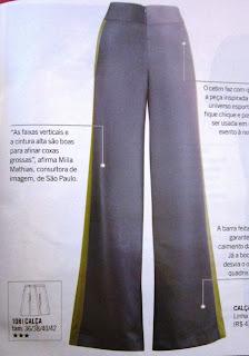 moda estilo corte costura molde pantalona