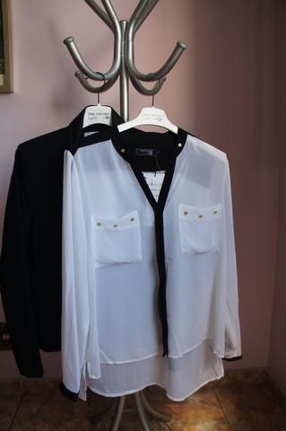 Comprei este blazer e esta camisa da coleção de Anne Fontaine