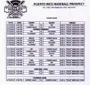 El 15 de mayo de 2013 se inició el Torneo Puerto Rico Baseball Prospect 2013 .