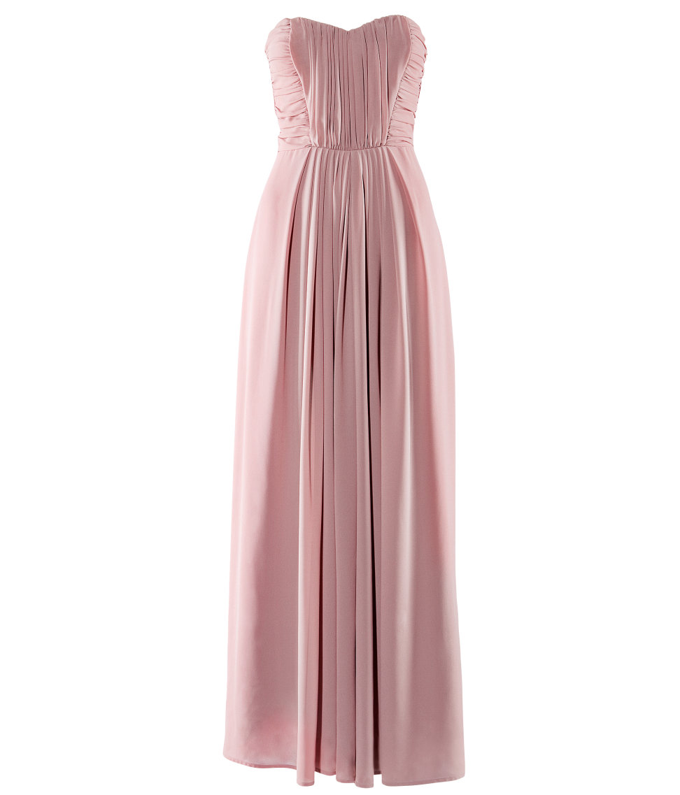 H m conscious collection h m rose pink maxi prom dress for Dusky pink wedding dress