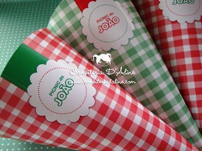 cones decoração picnic