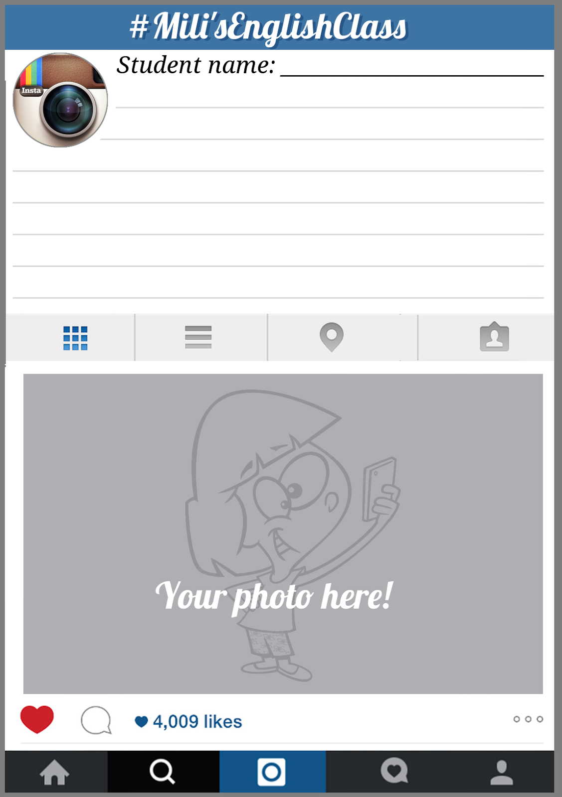 Instagram Page Layout Blank | www.imgkid.com - The Image ...
