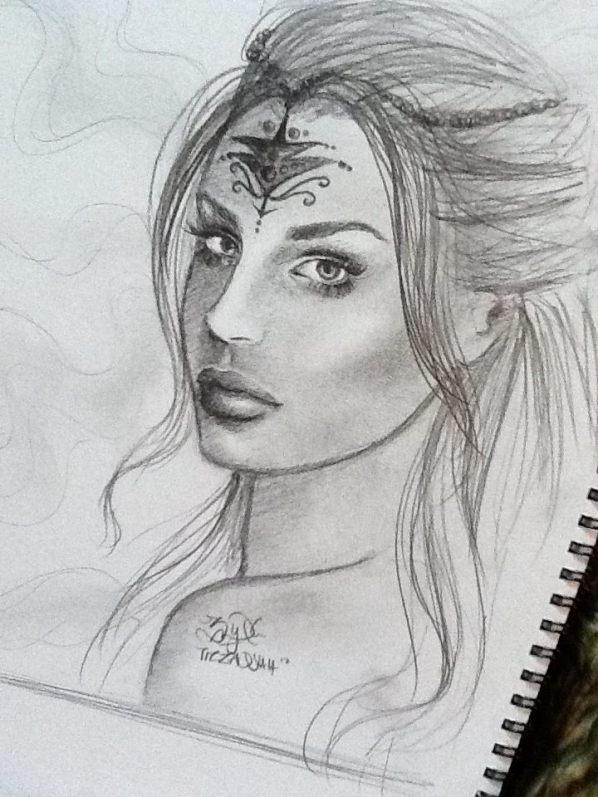 gambar lukisan potret tiz zaqyah razak
