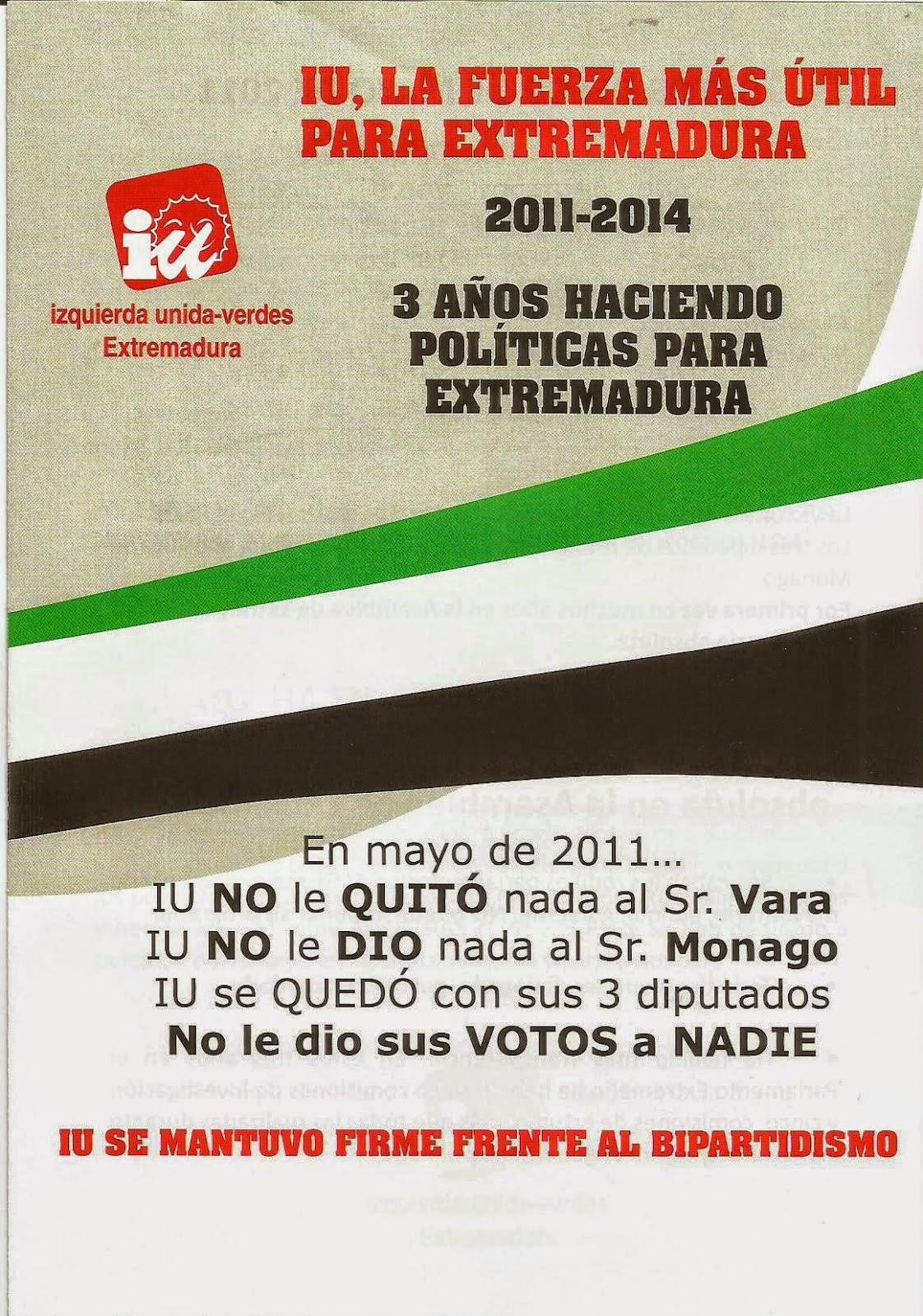 IU, la fuerza más útil para Extremadura