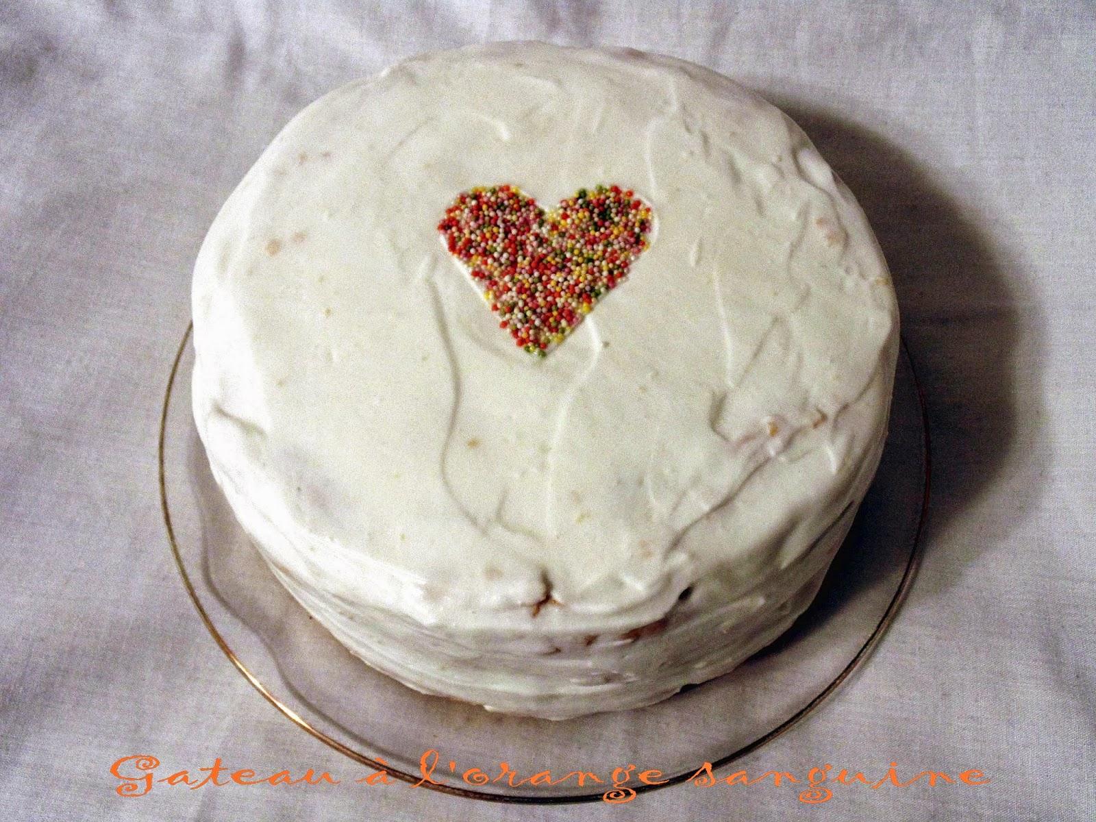 Gateau Gaga Love Cakes Gâteau à Lorange Sanguine Joyeux
