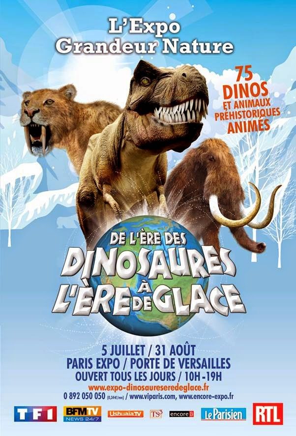 De l'ère des dinosaures à l'ère de glace, l'exposition.