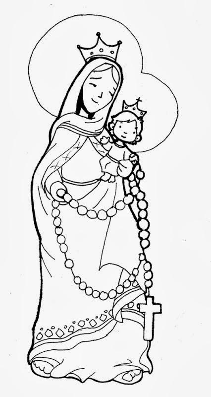 Virgen de chiquinquirá para colorear - Imagui